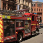 fire engine responding to potential emergency